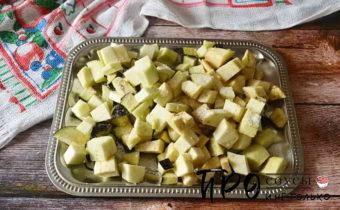 овощная икра с баклажанами