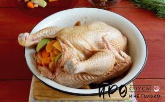 как запечь курицу в духовке целиком