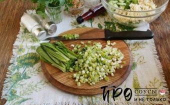 салат из черемши с яйцом
