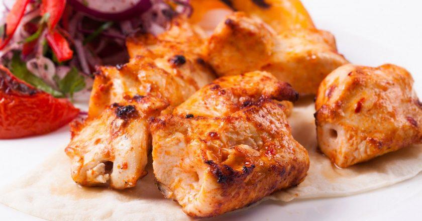 Шашлыки из куриной грудки