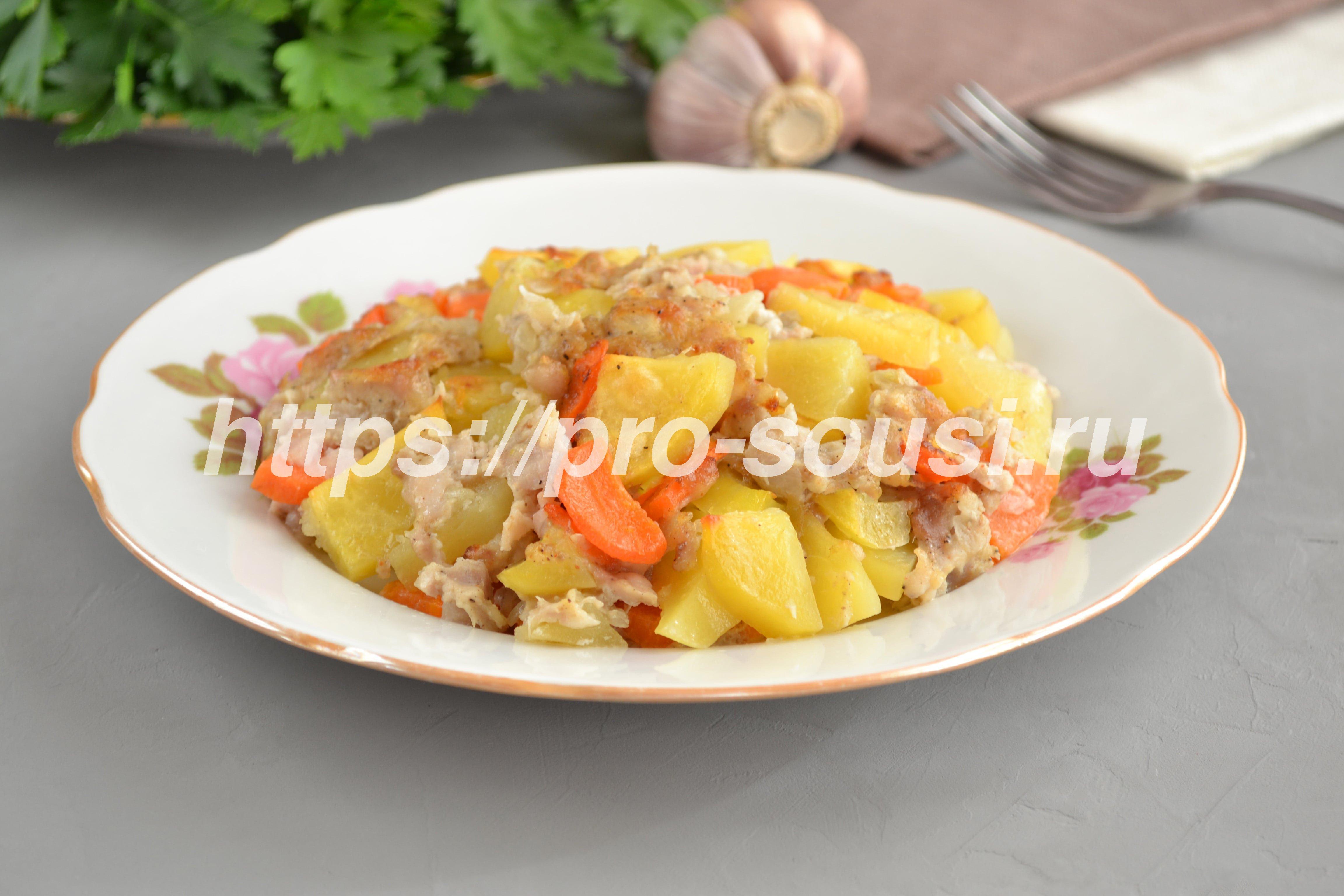 Картошка с фаршем в духовке получается необыкновенно вкусной!