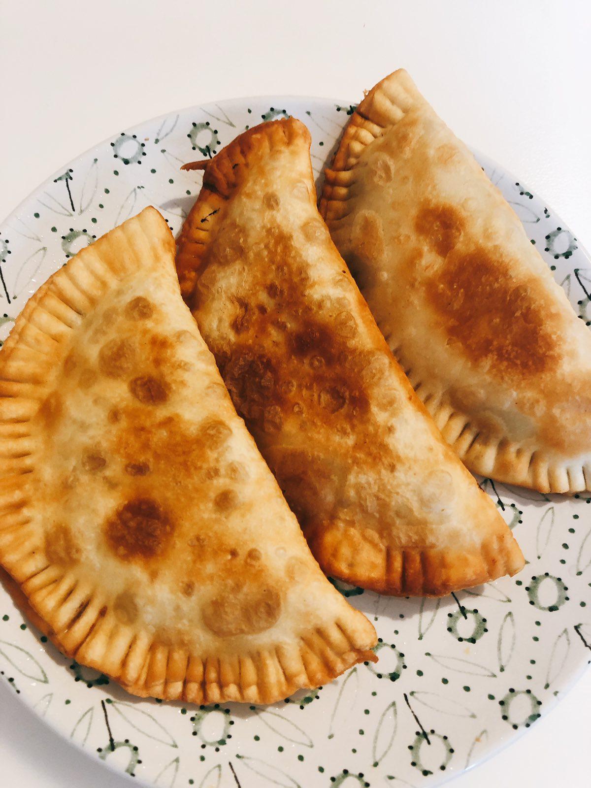 Чебуреки на кипятке с мясом